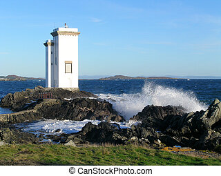 carraig fhada lighthouse - Carraig Fhada lighthouse on the...