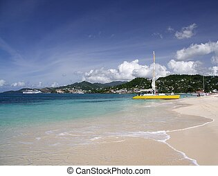 Sailing in paradise - Catamaran on a beautiful caribbean...