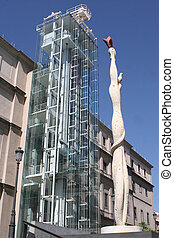 Reina Sofia Museum - side view of museum reina sofia in...
