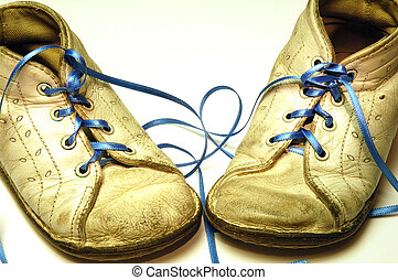 Baby shoes - Old worn baby shoes