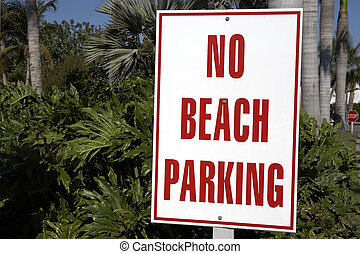 no beach parking sign on captiva island florida united...