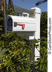 us mailbox on sanibel island florida united states usa taken...