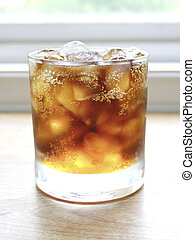 Soft Drink (cola) with ice.