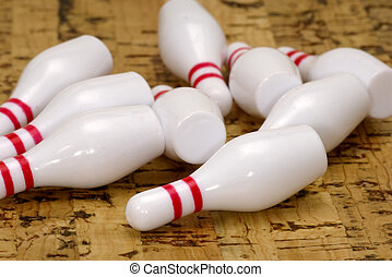 Bowling Pins - Knocked Down Bowling Pins