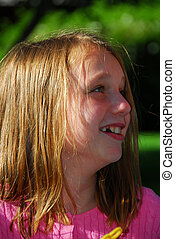 Portrait of a girl laughing - Portrait of a young girl...