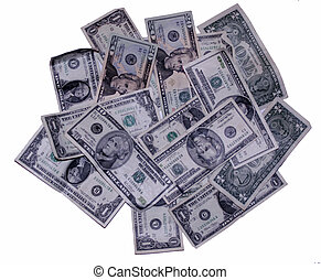 money money money - many US dollar bills