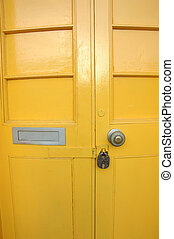 Yellow door - Shot of a yellow door