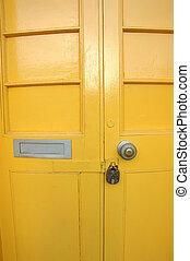 Yellow door - Shot of a yellow door.