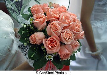 Wedding Ceremony - Bride\\\'s mate holding flowers