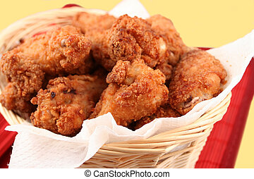 fried chicken 2 - basket of crispy fried chicken