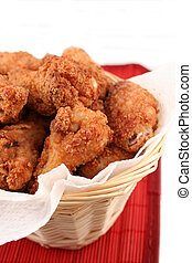 fried chicken 3 - basket of crispy fried chicken