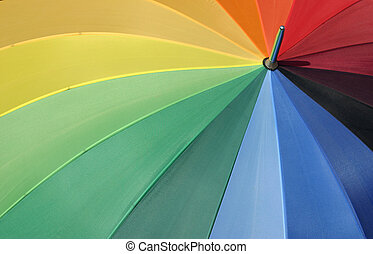 Colors of the rainbow - Colorful umbrella