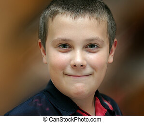 young boy - portrait of young boy with a smile