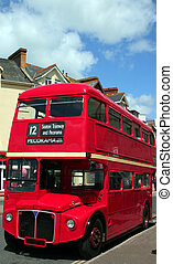 London Bus - A traditional bright red double decker...