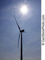 turbine with sun