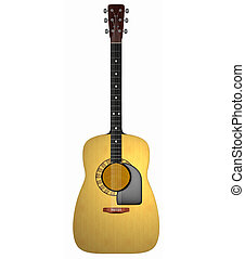 acoustic guitar - 3d render of an acoustic guitar at 800 dpi