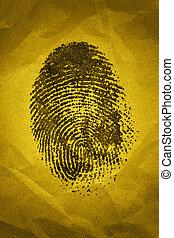 Fingerprint - A fingerprint on a textured background with...