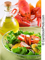 Lobster Salad - Lobster salad with avocado and oranges
