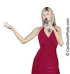 mulher, cantando