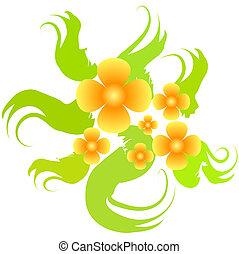 Floral bush - Orange floral bush