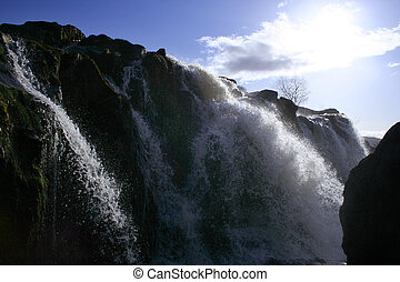 fintry deluge - A single stage of the Fintry Loup waterfall,...