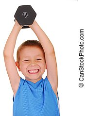 Pocket Hercules 321 - Young boy working out with weights
