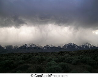Stormy Sierras - Stormy skies over the Eastern Sierras, Ca....