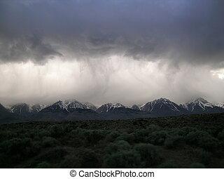 Stormy Sierras - Stormy skies over the Eastern Sierras, Ca....