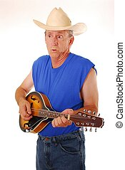 Old Time Country 4 - Senior rockin on an acoustic Mandolin...