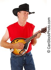 Old Time Country 5 - Senior rockin on an acoustic Mandolin...