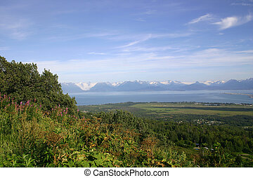Paradise - View of beautiful Katchemak Bay, Alaska, a...