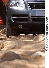 Four Wheel Drive - Four wheel drive on rough terrain