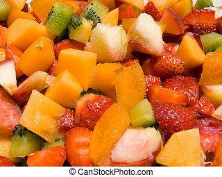 Fruit salad - Close-up of a fruit salad