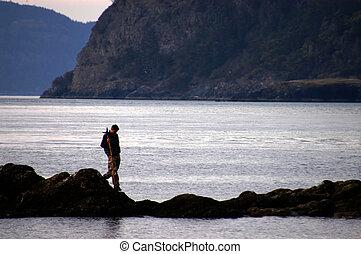 Explorer 99 - man walking on shore