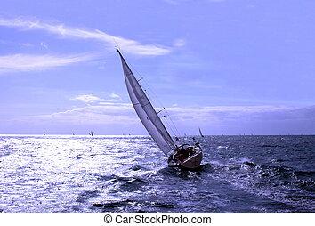 Transquadra race - sailing in regatta