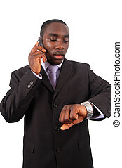 How about 2 o\\\'clock? - This is an image of a businessman...