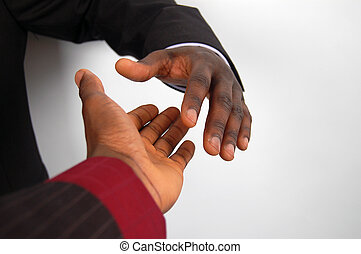 Congratulations - This is an image of a two hands about to...
