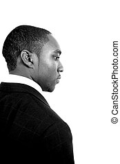 Business Outlook 3 - This is an image of black business man...