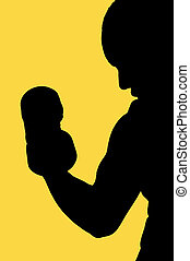 Strong (Silhouette) - This is an image of a person,...