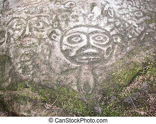 petroglyphs at bella coola