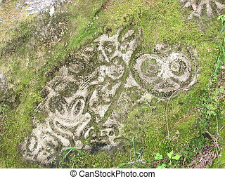 petroglyphs at bella coola