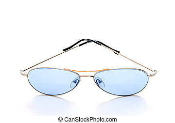 Blue shades on white background
