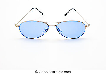 Blue Shades - Blue shades on white background
