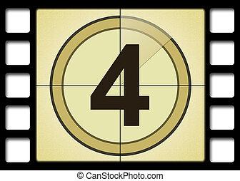 Movie Number 4 - Film countdown. Number 4