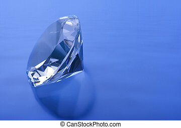 Diamond blue - Diamond on a blue wave background
