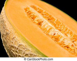 Melon - Close-up of a half cut melon