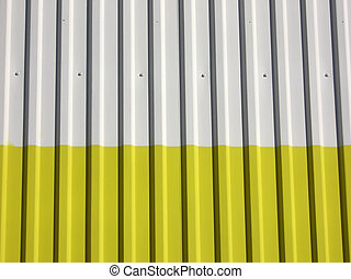 metal wall - white yellow metal wall