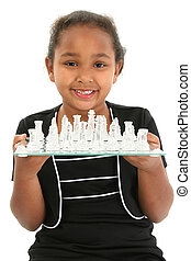 Child with Chess Board