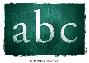 Grunge Education - The letters ABC written on a grunge...
