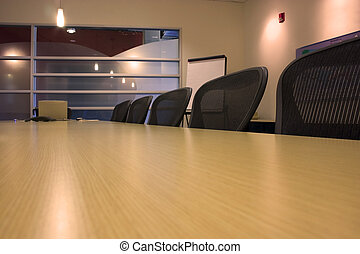 Conference Room and the empty chairs